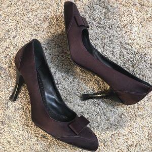 Hugo Boss Brown Bow Adorned Heels